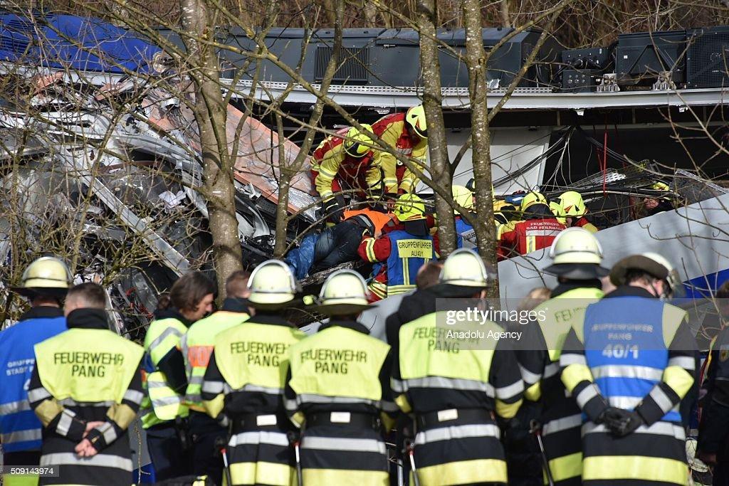 Trains collided in Munich : News Photo