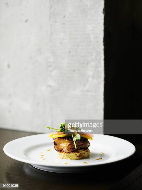 seared foie gras on brioche - french food stock pictures, royalty-free photos & images