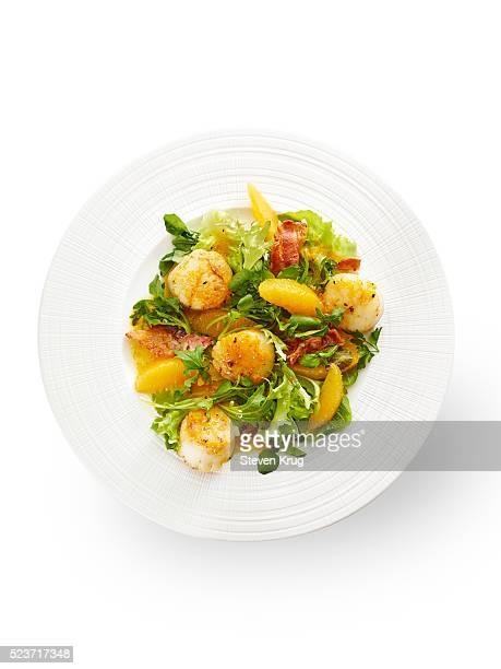 Seared Scallops and Salad