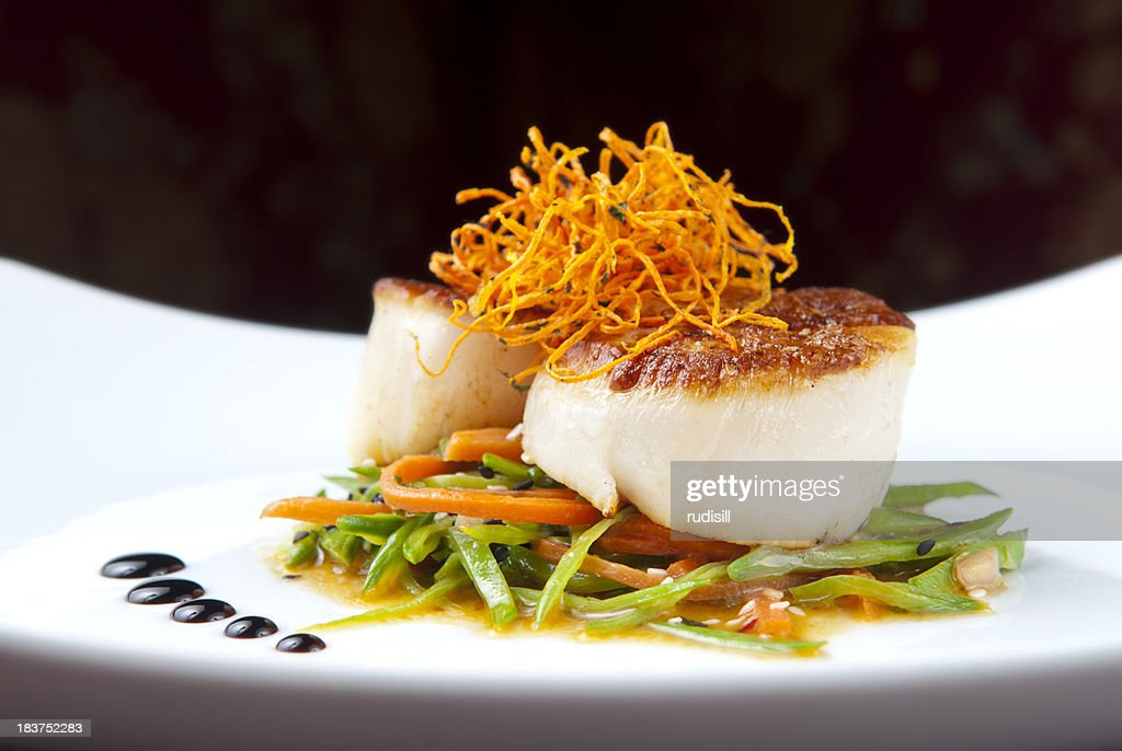 Seared Scallops : Stock Photo