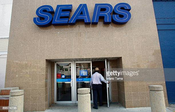 Sears store is seen August 20 2009 in the Brooklyn borough of New York City Sears Holdings posted second quarter losses of $94 million missing...