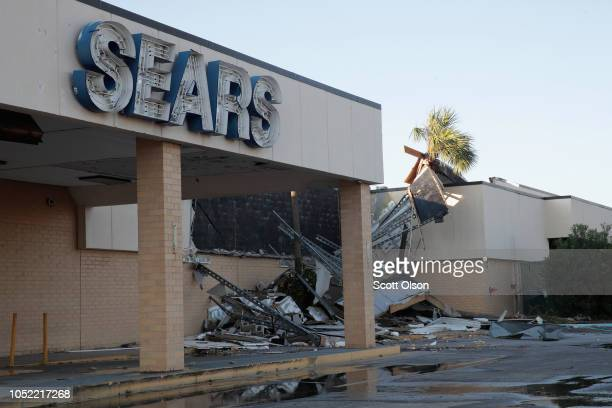 Sears store is shown damaged from Hurricane Michael on October 15, 2018 in Panama City, Florida. Michael slammed into the Florida Panhandle on...