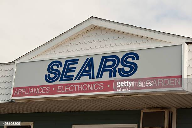 sears store signage - sears stock pictures, royalty-free photos & images