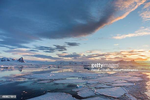Seascape and ice in Crystal Sound, Antarctica