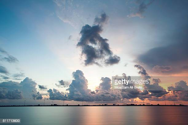 seascape at sunset in florida keys - key west - florida keys stock pictures, royalty-free photos & images