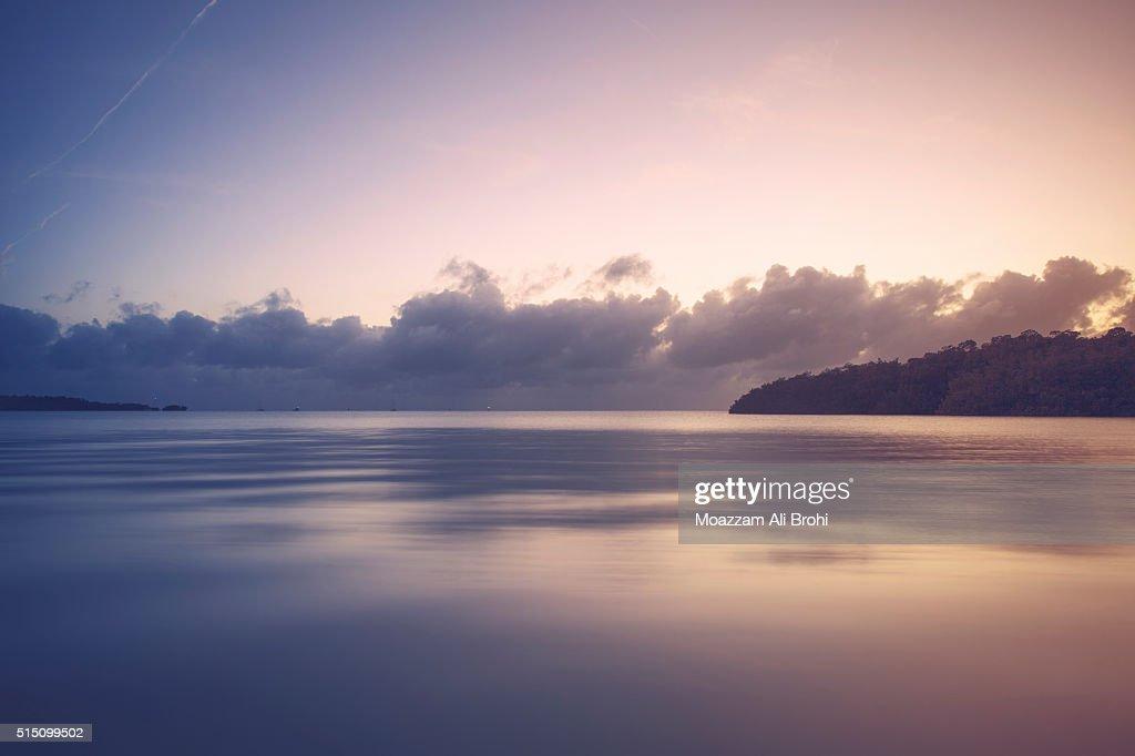 Seascape at Sunset in Florida Keys - Marathon Key : Stock Photo