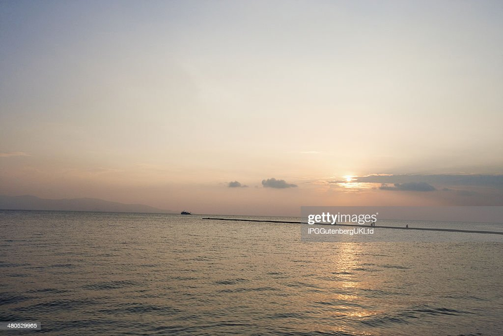 Seascape at sunset; Koh Pha Ngan; Thailand : Stock Photo