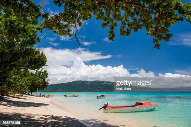 Seascape at the beach of Pele island