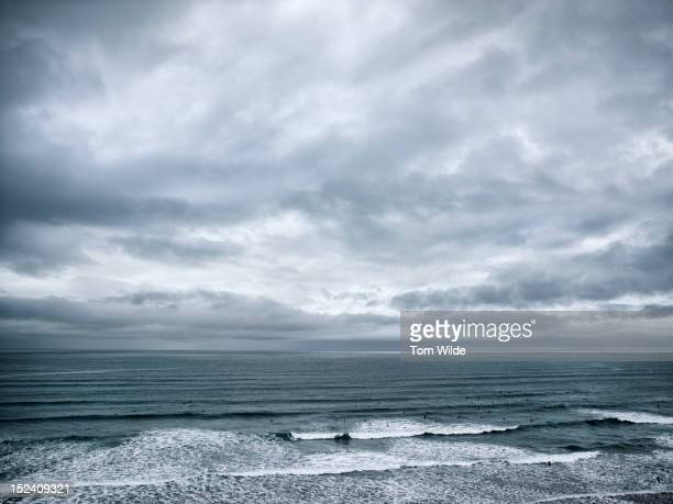 seascape cornwall - grey colour stock pictures, royalty-free photos & images