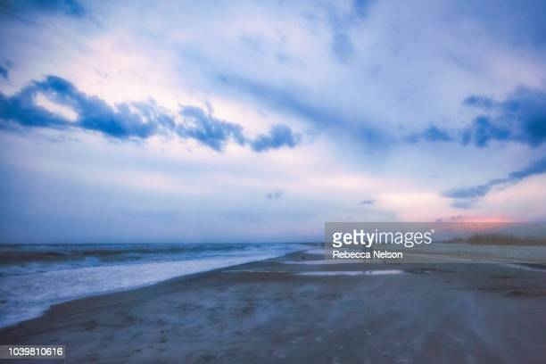 seascape during blue hour along the Gulf of Mexico