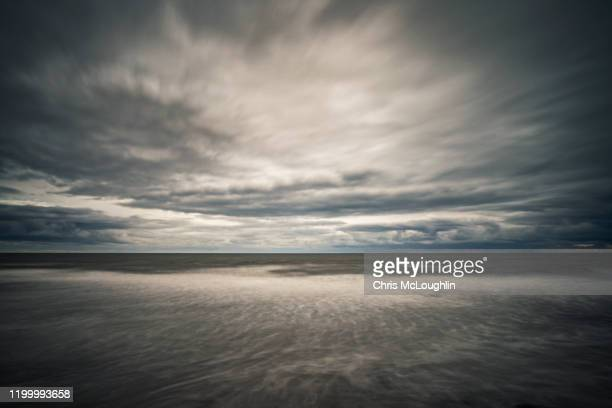 seascape from scarborough sea front - scarborough uk stock pictures, royalty-free photos & images