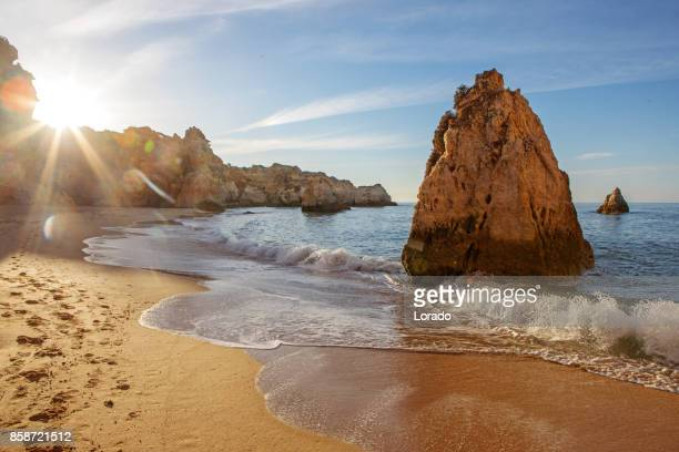 seascape images of beach in alvor portugal in late summer sun - alvor stock pictures, royalty-free photos & images