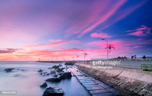 Seascape in dawn