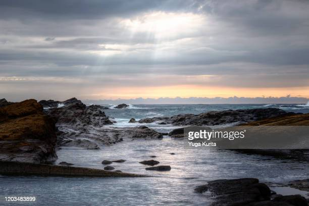 seascape in the morning - chiba city stock pictures, royalty-free photos & images