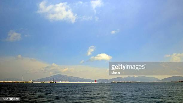 Seascape in Yeosu, South Korea.