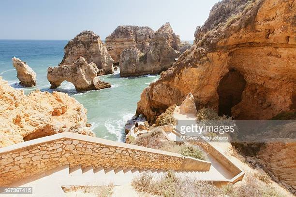 seascape, lagos - algarve stock photos and pictures