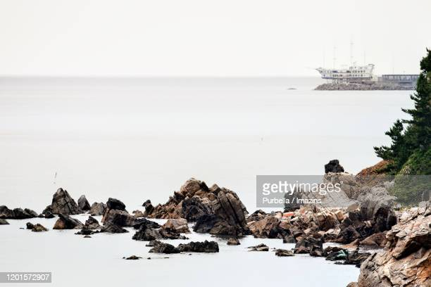 seascape of dongmyeong port, gangneung, south korea - gangwon province stock pictures, royalty-free photos & images