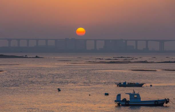 Seascape of Hanjin Port, Dangjin, South Korea