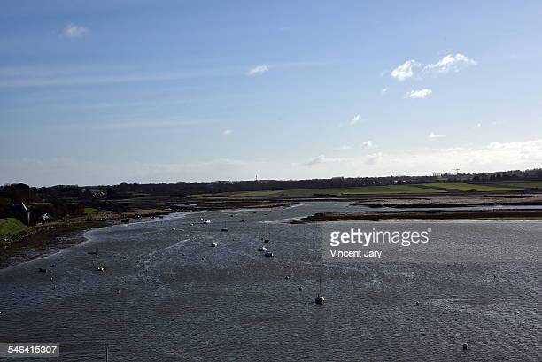 Seascape of rance river French Brittany