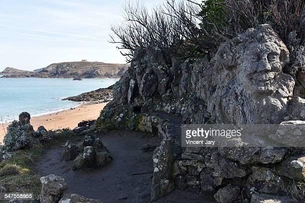 Seascape of rochers sculpters Saint Malo
