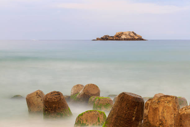 Seascape of Sampo Port, Gangneung, South Korea