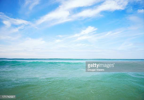 Seascape on Atlantic coastline.