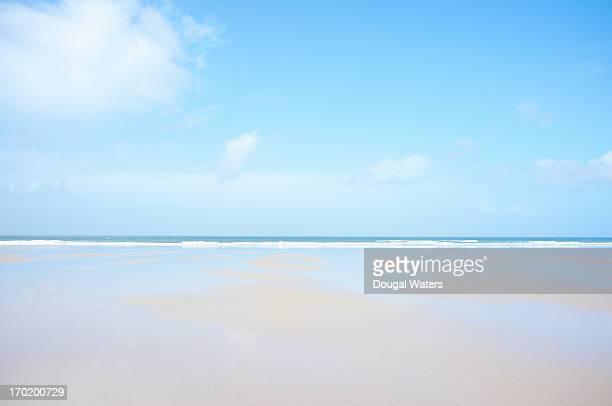 Seascape on Cornish coastline, UK.