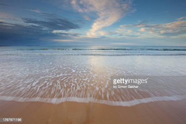 seascape photograph with water motion - seascape stock pictures, royalty-free photos & images