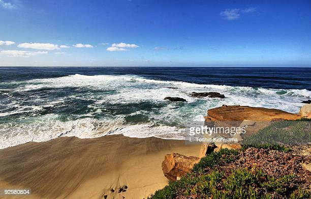 seascape - la jolla stock pictures, royalty-free photos & images