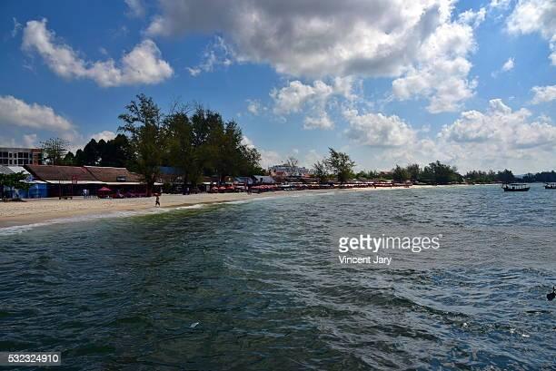 seascape sihanoukville beach cambodia - golf von thailand stock-fotos und bilder