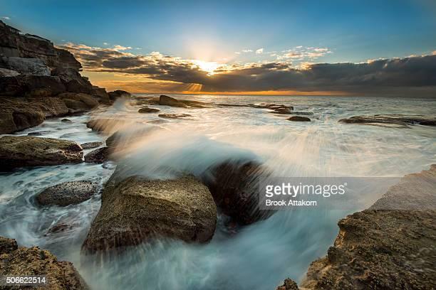 Seascape Splash sunrise