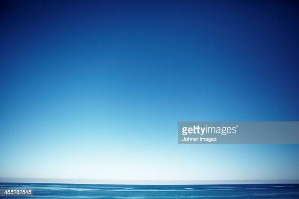 Seascape with blue sky