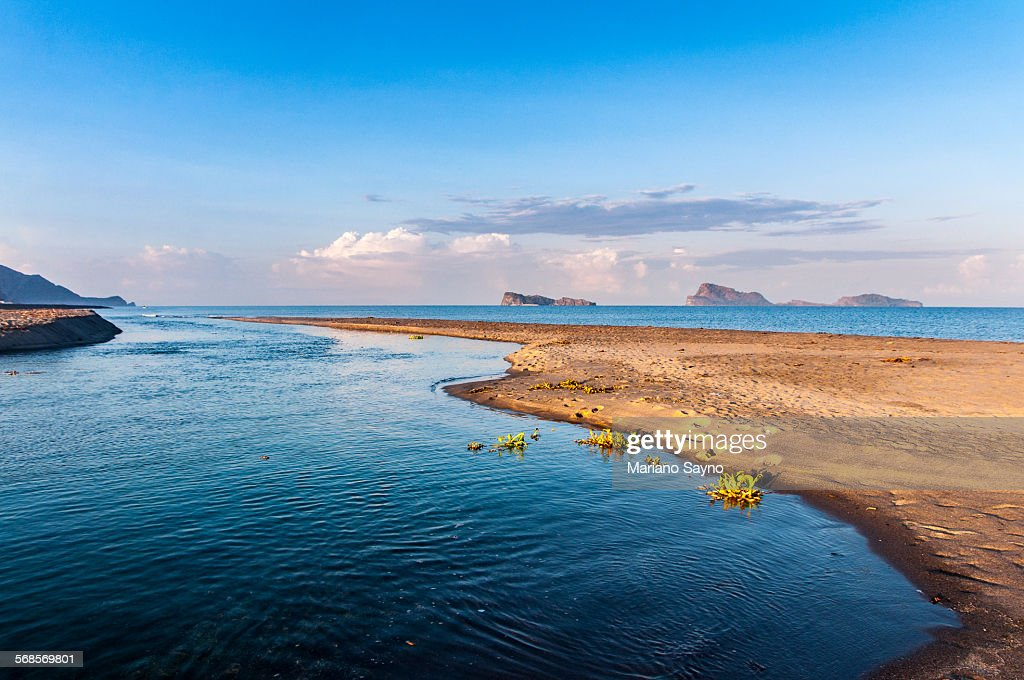 Seascape With Islands in The Distance : Stock Photo