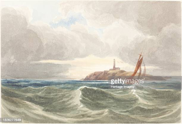 Seascape with Lighthouse. Attributed to James Bulwer. Artist James Bulwer.