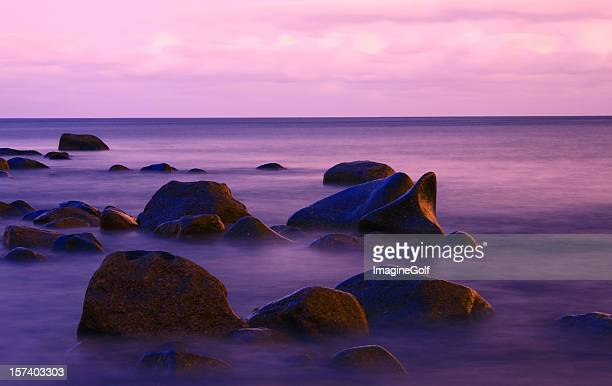 Seascape with some rocks protruding the sea