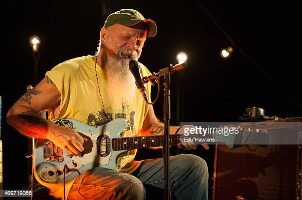 Seasick Steve performs on stage at Eventim Apollo on April 14 2015 in London United Kingdom