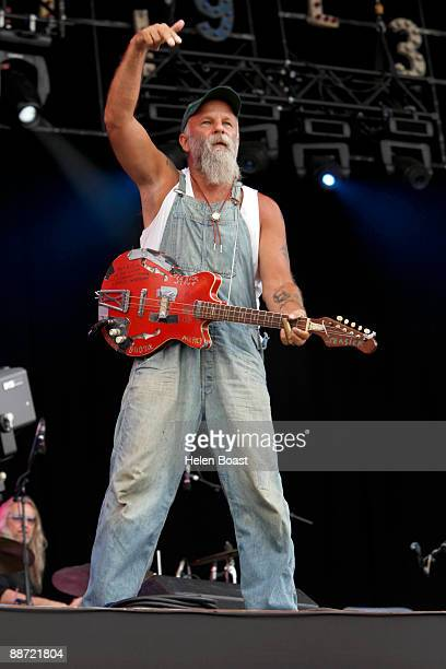 Seasick Steve performs on stage for day 2 of Hard Rock Calling at Hyde Park on June 27 2009 in London England