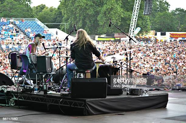 Seasick Steve performs on stage on day 2 of Hard Rock Calling 2009 in Hyde Park on June 27 2009 in London England