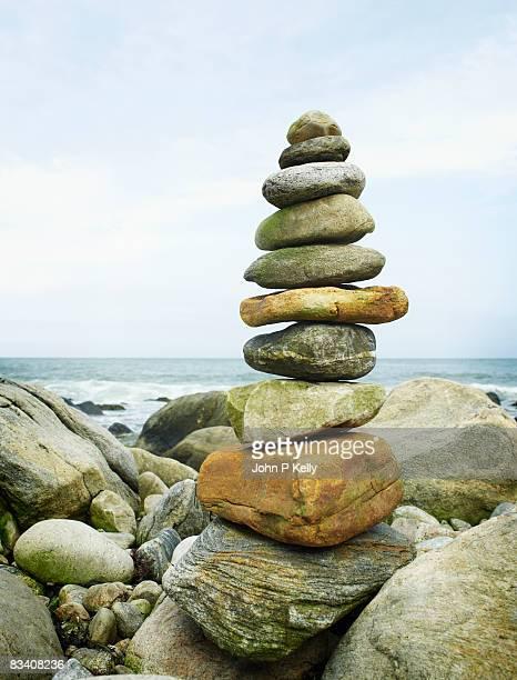 Seaside cairn