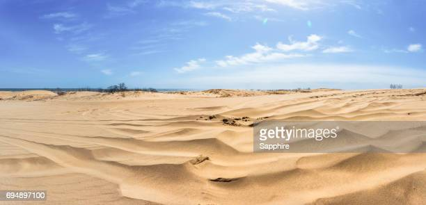 seaside desert, hebei, china - hebei province stock pictures, royalty-free photos & images