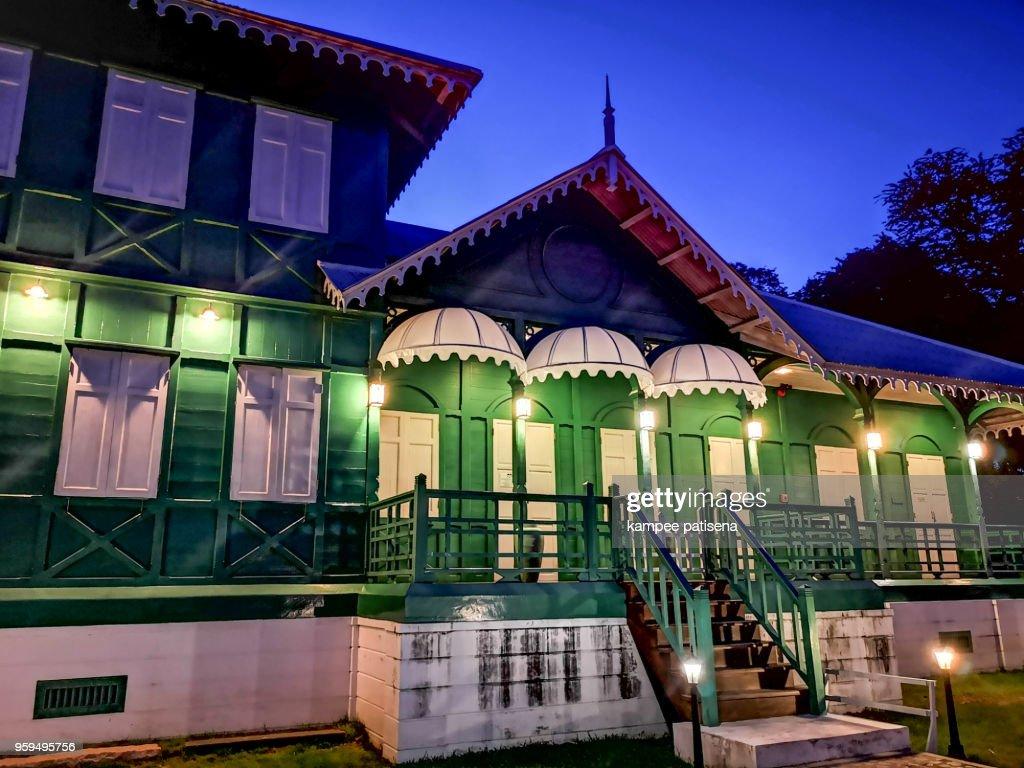 Seaside house green villa public park at Koh Sichang, Chonburi, Thailand. : Stock-Foto