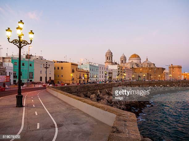 Seaside neighborhood in Cadiz, Spain