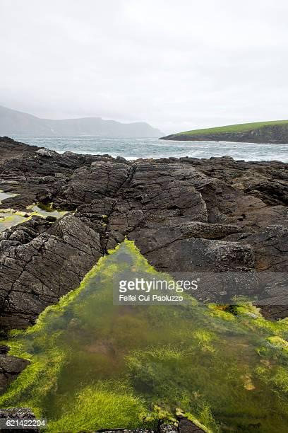 Seaside of Purteen Harbour, Achill Island in Ireland