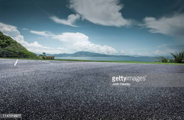 seaside parking lot - horizontal stock pictures, royalty-free photos & images