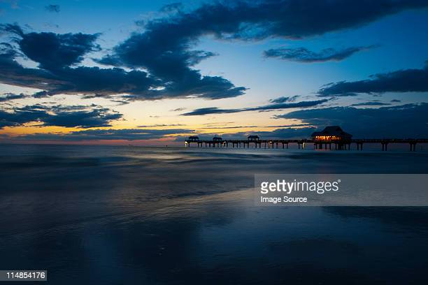 Seaside pier at sunset, Clearwater, Florida