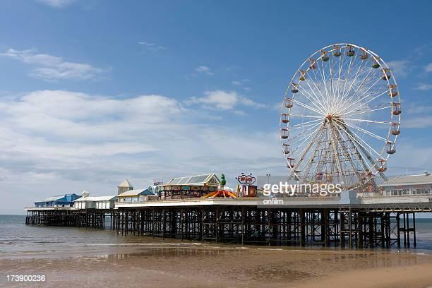 Seaside pier, Blackpool