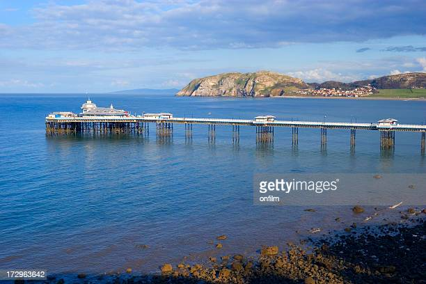 seaside pier - llandudno wales stock pictures, royalty-free photos & images