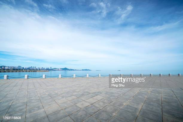 seaside platform - road stock pictures, royalty-free photos & images