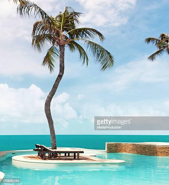 seaside pool - elysium stockfoto's en -beelden