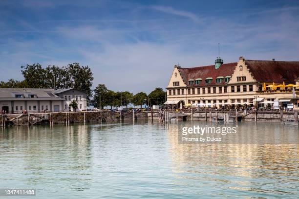 Seaside promenade, Harbour, , Island Lindau, Lindau at Lake Constance, Lake Constance region, Swabia, Bavaria, Germany, Europe.